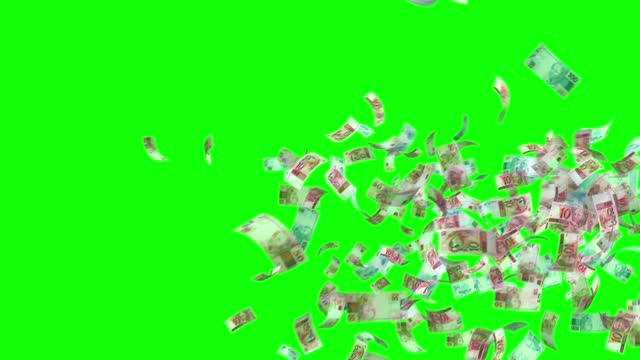 vídeos de stock, filmes e b-roll de notas do real, 100 brl, r$ 50 e 10 brl mistos, loop de fundo animado, fluxo, explosão 4k loop sem emenda, chave chroma, stock video - banknote