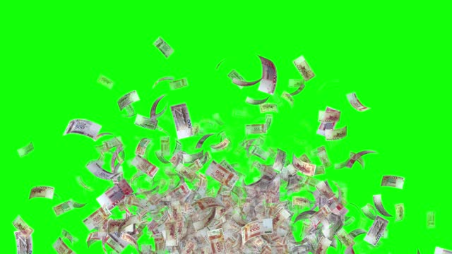 banknotes of the hong kong dollar, 1000 hkd, 500 hkd and 100 hkd mixed, animated background loop, flow, explosion 4k seamless loop, chroma key, series - group of objects stock videos & royalty-free footage