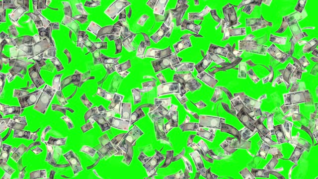 banknotes of the japanese yen, 10000 jpy, 5000 jpy and 2000 jpy mixed, animated background loop, flow, explosion 4k seamless loop, chroma key, stock video - yen sign stock videos & royalty-free footage