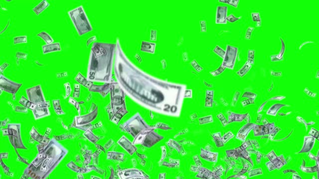 banknotes of the us american dollar, 100 usd, 50 usd and 20 usd mixed, animated background loop, flow, explosion 4k seamless loop, chroma key, stock video - paper currency stock videos & royalty-free footage