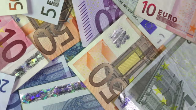 eu banknotes - drehen stock videos & royalty-free footage
