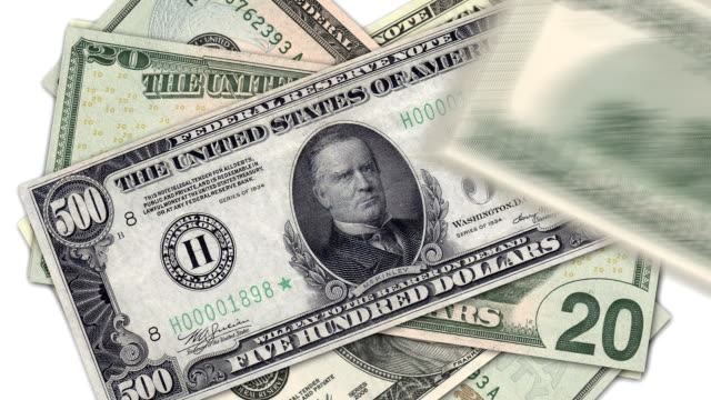 banknotes - us currency stock videos & royalty-free footage