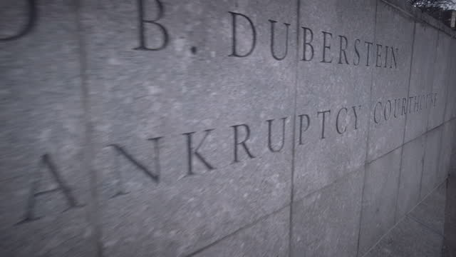 """""""bankruptcy court"""" engraved in stone closeup focus on the word """"bankruptcy."""" filmed by the entrance of the bankruptcy court located at 271-c cadman... - politics abstract stock videos & royalty-free footage"""