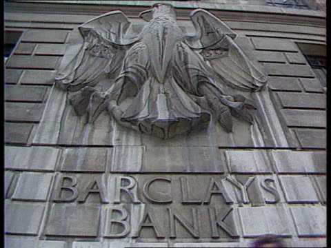 Banks and small businesses London LACMS Barclays sign outside bank ITN LIB LACMS Lloyds Bank sign ITN LIB MS Front of Natwest Bank ITN LIB INT TCS...
