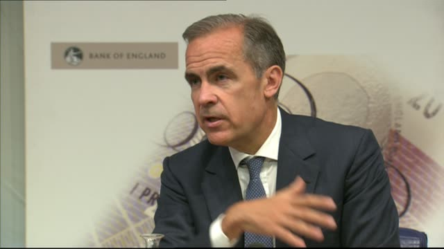 banks receive warning over levels of consumer credit england london int mark carney press conference sot if things become bumpy in the transitionthe... - bumpy stock videos & royalty-free footage