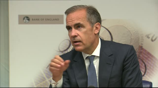 banks receive warning over levels of consumer credit int mark carney press conference sot if things become bumpy - bumpy stock videos & royalty-free footage