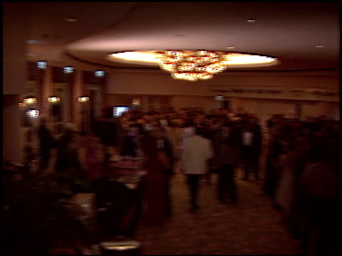 stockvideo's en b-roll-footage met banner at the night of 100 stars oscar gala at the beverly hilton in beverly hills, california on february 29, 2004. - 76e jaarlijkse academy awards