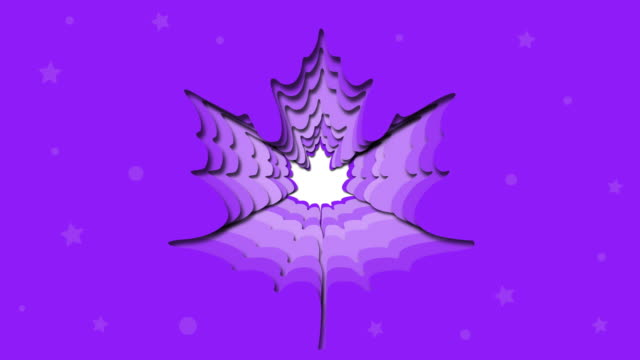 banner design on purple background, maple paper cut and crafts, animation - poster template stock videos and b-roll footage