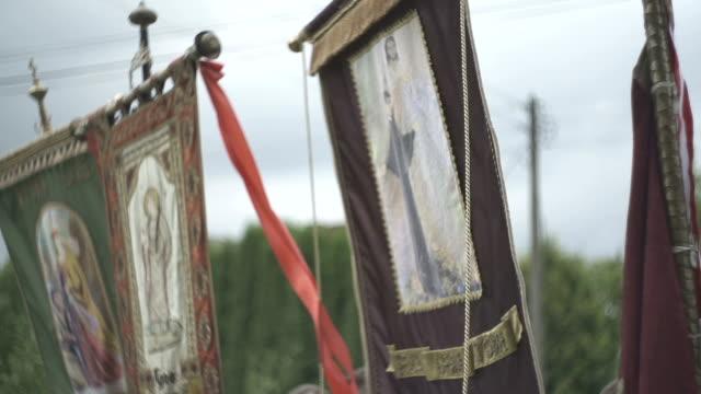Pancarta durante una boda procesión