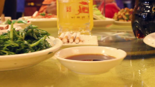 cu banquet of chinese wedding/xian,shaanxi,china - banquet stock videos & royalty-free footage