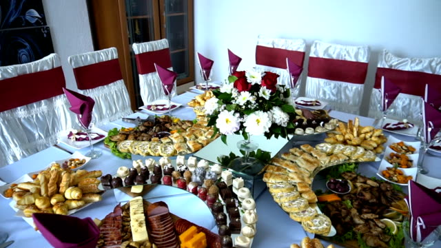 banquet table - banquet stock videos & royalty-free footage
