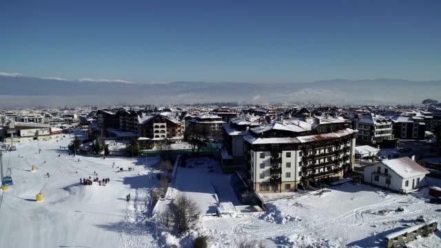 bansko ski resort home run, bulgaria, europe - bulgaria stock videos & royalty-free footage