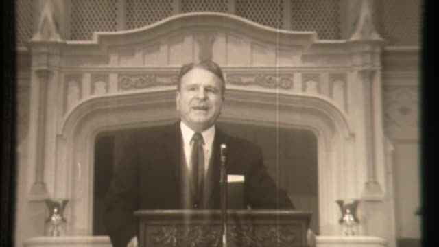baptist pastor wa criswell on john f kennedy - baptist stock videos & royalty-free footage