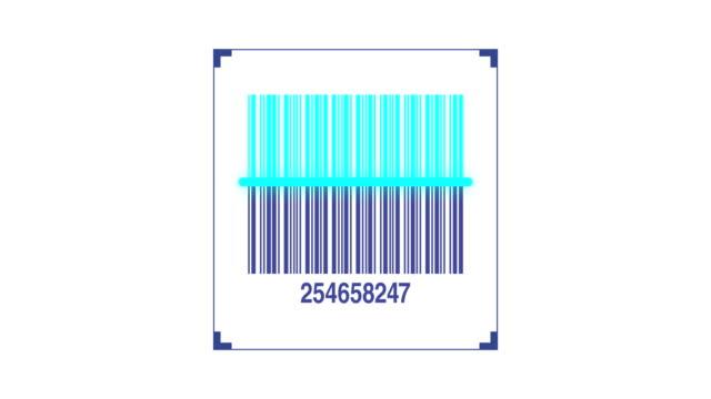 vídeos de stock, filmes e b-roll de leitor de código de barras, verificação de código de produto - etiqueta mensagem