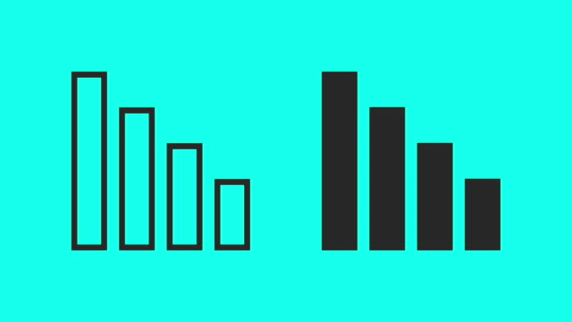 vídeos y material grabado en eventos de stock de gráfico de barras - vector animado - vector