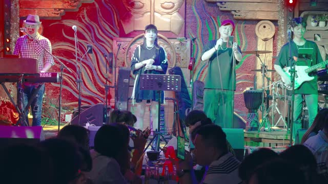 bar in ancient water town of wuzhen,china. - performing arts event stock videos & royalty-free footage