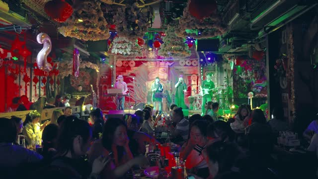 bar in ancient water town of wuzhen,china. - pop musician stock videos & royalty-free footage
