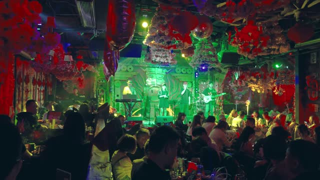 bar in ancient water town of wuzhen,china. - pop music stock videos & royalty-free footage
