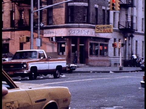 bar on street corner; 1970s - harlem stock videos & royalty-free footage