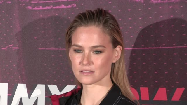 bar refaeli at the photocall of the tommy hilfiger ready to wear fall winter 2018 fashion show in milan milan italy on sunday february 25 2018 - tommy hilfiger designer label stock videos and b-roll footage
