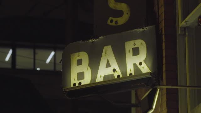 CU bar sign, corner bar in city, U.S. / Europe / Ireland / Dublin