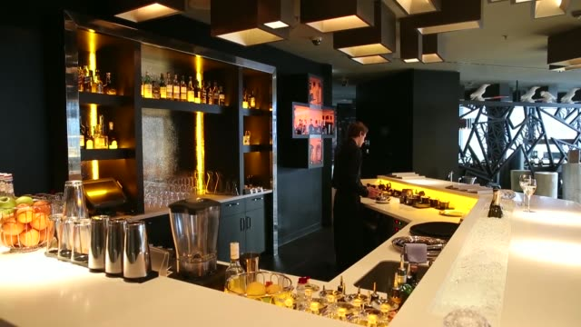 a bar tender prepares a cocktail in the nuts co bar at the intercontinental hotel davos operated by intercontinental hotels group plc in davos... - grigio stock videos and b-roll footage
