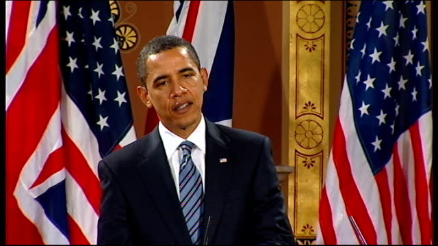 barack obama and gordon brown press conference at foreign office barack obama answering question sot i think if you pulled quotes from 10 years ago... - durability stock videos & royalty-free footage
