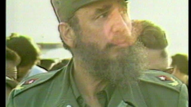 barack obama announces he wants to normalise relations with cuba as031183016 / tx havana fidel castro at airport - cuba video stock e b–roll