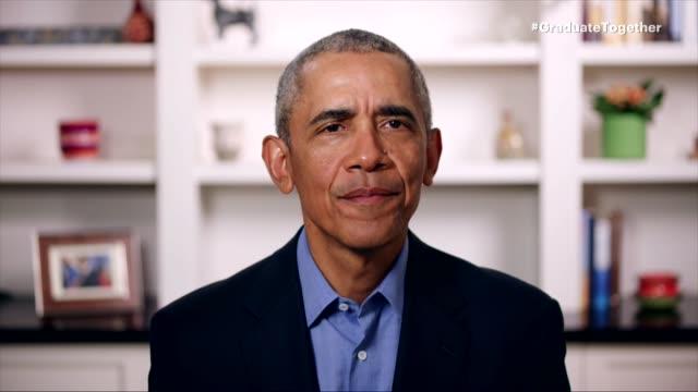 barack obama at the graduate together: america honors the high school class of 2020 on may 16, 2020. - バラク・オバマ点の映像素材/bロール