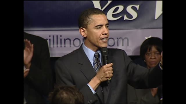 wgn barack obama campaigning for illinois senator in 2004 - senator stock videos & royalty-free footage