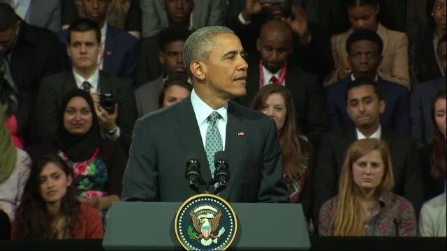 barack obama holds town hall meeting - town hall meeting stock videos and b-roll footage