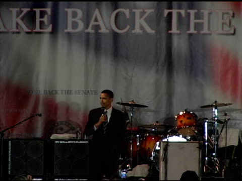 Barack Obama on his heritage and journey at the Democracy for the Senate at Bergamot Station in Santa Monica California on October 16 2004