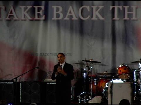 Barack Obama on the Democratic conception at the Democracy for the Senate at Bergamot Station in Santa Monica California on October 16 2004