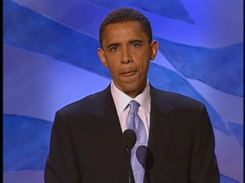 barack obama speaks in support of john kerry during speech at the democratic national convention. - 2004 stock videos & royalty-free footage