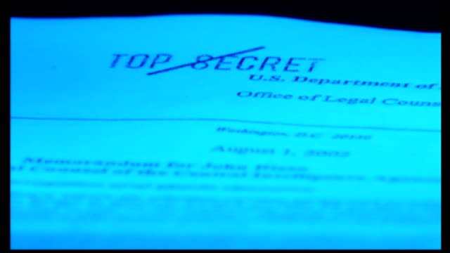 stockvideo's en b-roll-footage met barack obama to visit cia to defend release of torture memos usa documents marked as 'top secret' - report document