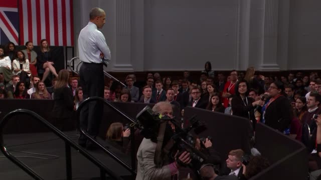 barack obama town hall meeting - town hall meeting stock videos and b-roll footage