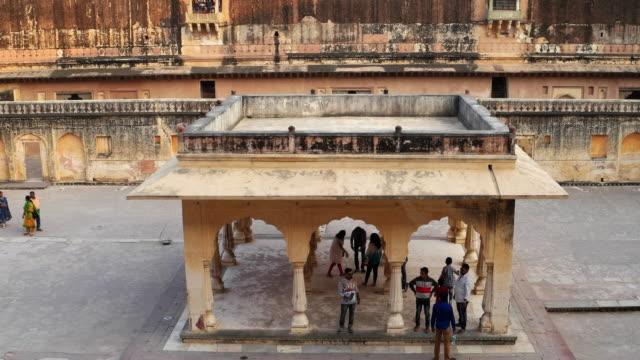 A Baradari in a courtyard at the Mansingh Mahal, Amer Fort in Rajasthan