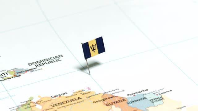 Barbados with National Flag