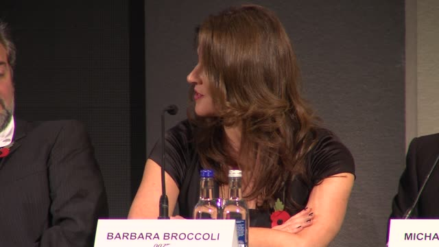 barbara broccoli on sam mendes at the bond 23 launch press conference skyfall at london england - skyfall stock videos and b-roll footage