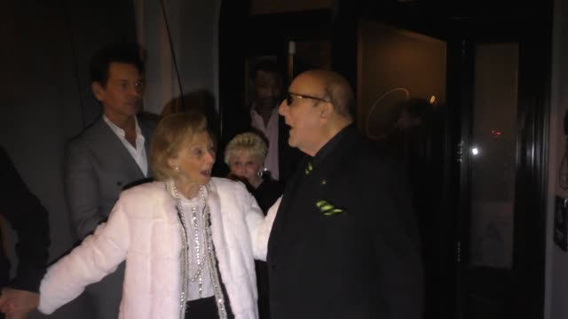 barbara davis & clive davis leave dinner at craig's restaurant in west hollywood in celebrity sightings in los angeles, - clive davis stock videos & royalty-free footage