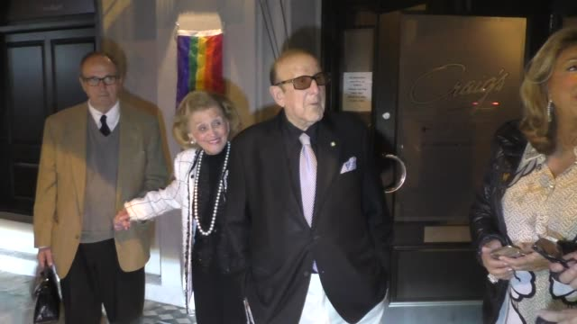 barbara davis joins clive davis for dinner at craig's restaurant in west hollywood in celebrity sightings in los angeles, - clive davis stock videos & royalty-free footage