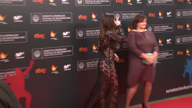 barbara goenaga attends 'la fille de brest' premiere during 64th san sebastian international film festival at kursaal palace on september 16 2016 in... - fille de stock videos & royalty-free footage