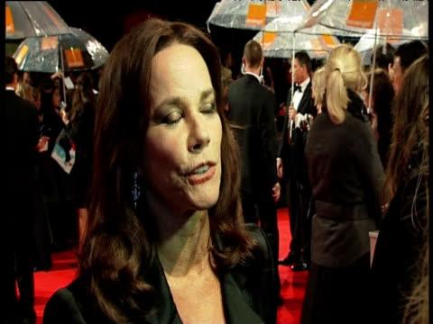 barbara hershey at the orange british academy film awards 2011 at london england. - ブランド名点の映像素材/bロール