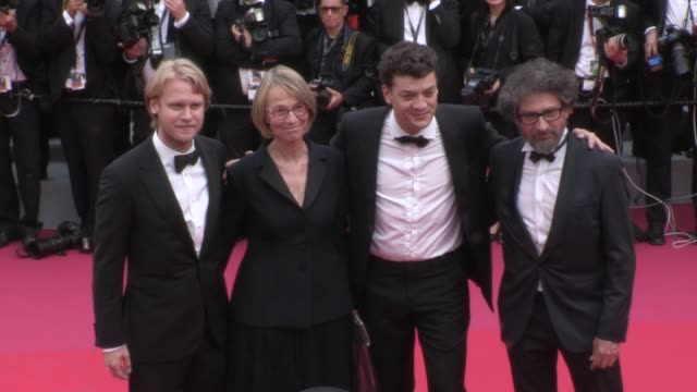 barbara meier francoise nyssen jamie mccourt and more on the red carpet for the opening ceremony of the cannes film festival 2018 and the premiere of... - 71st international cannes film festival stock videos & royalty-free footage