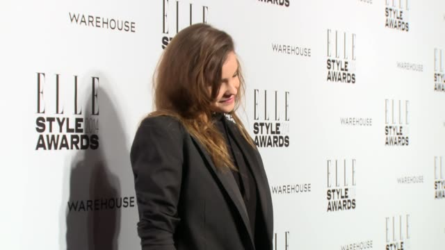 barbara palvin at elle style awards arrivals at one embankment on february 18 2014 in london england - embankment stock videos and b-roll footage