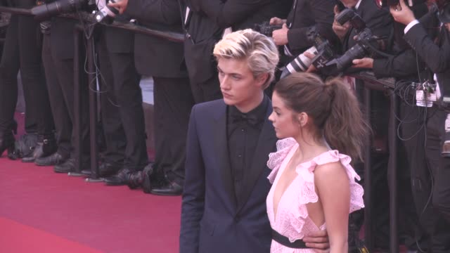 Barbara Palvin Lucky Blue Smith at 'Julieta' Red Carpet on May 17 2016 in Cannes France