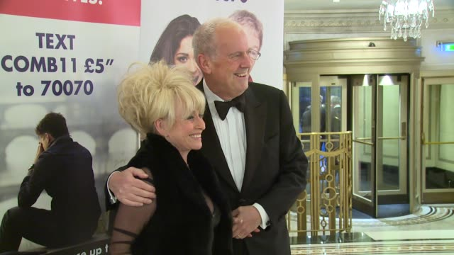barbara windsor, gillian taylforth, gyles brandreth at care after combat ball on 31st march 2015 in london, england. - gillian taylforth stock videos & royalty-free footage