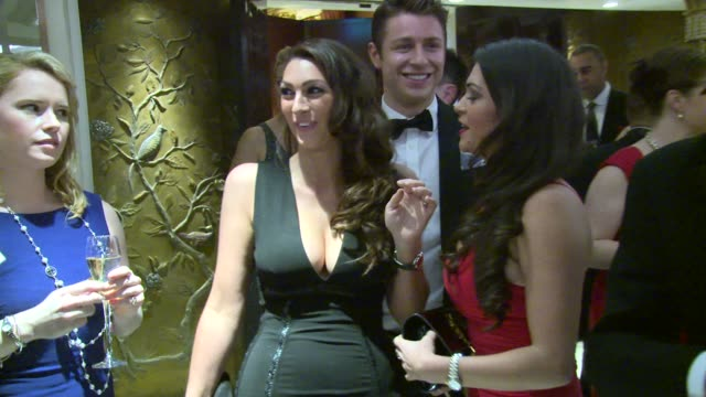 barbara windsor, nigel farage, gillian taylforth, luisa zissman, lizzie cundy, casey batchelor at care after combat ball on 31st march 2015 in... - gillian taylforth stock videos & royalty-free footage