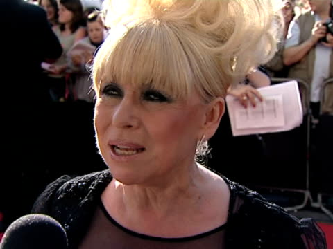 stockvideo's en b-roll-footage met barbara windsor on the family atmosphere on the set of eastenders at the tv bafta awards at london . - soapserie