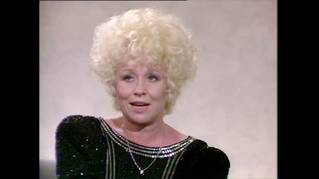barbara windsor, speaking in 1990, on watching eastenders, considering it's accuracy to the real east end and falling in love with the characters;... - reflection stock videos & royalty-free footage